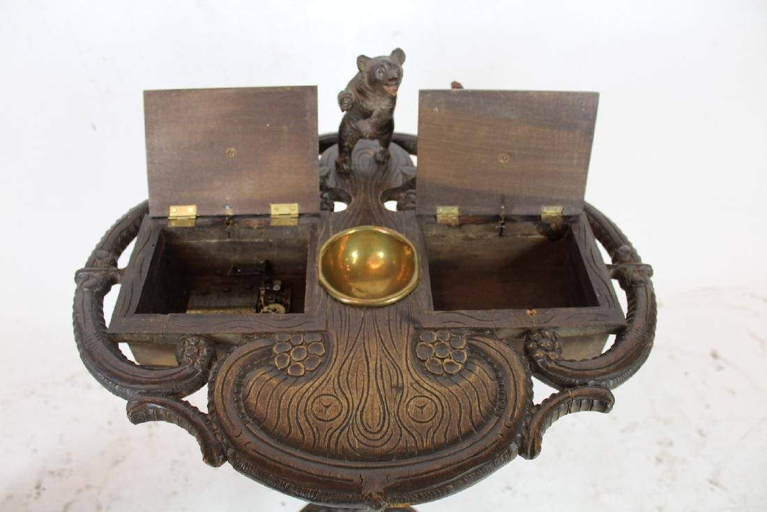 19th c Black Forest carved smoking stand - 6