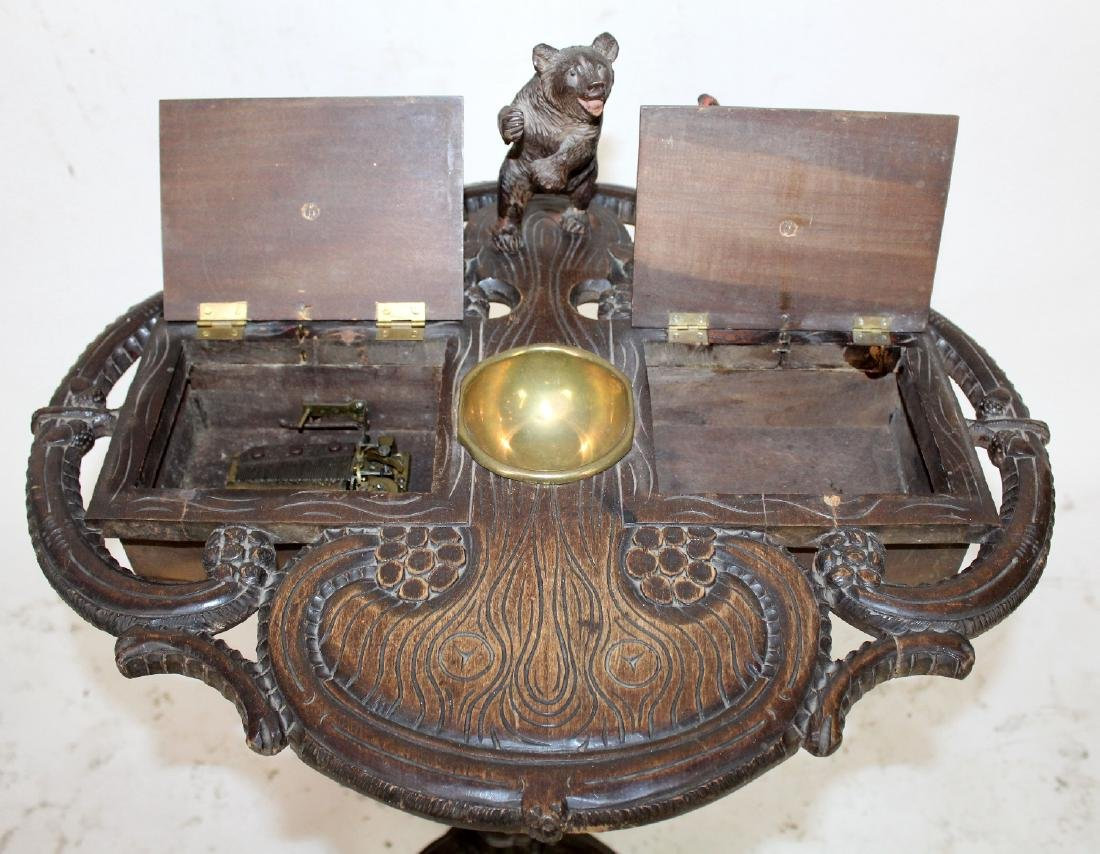 19th c Black Forest carved smoking stand - 7