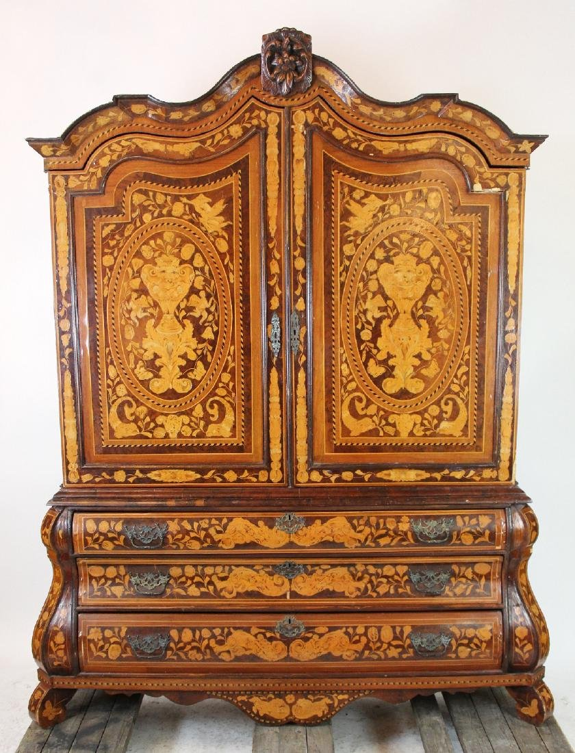Dutch Neo-Classical marquetry cabinet
