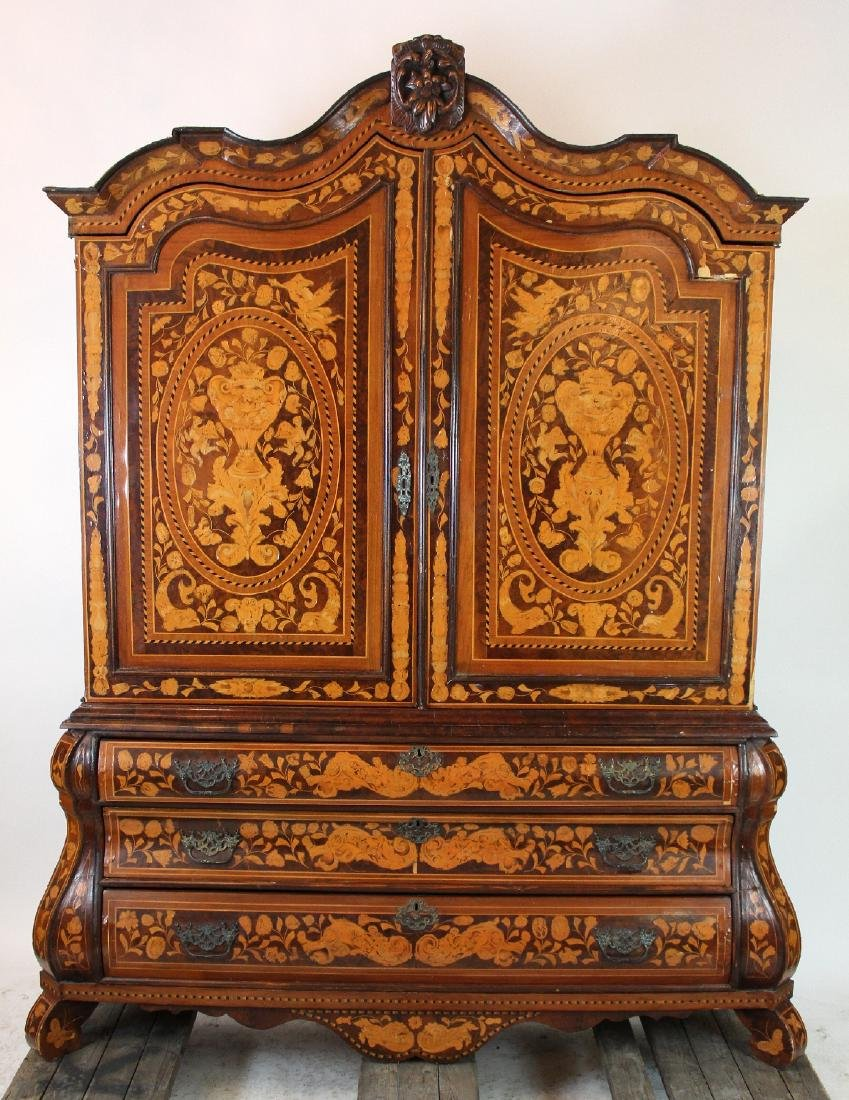 Dutch Neo-Classical marquetry cabinet - 3