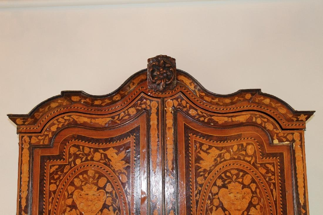 Dutch Neo-Classical marquetry cabinet - 4