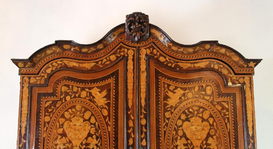 Dutch Neo-Classical marquetry cabinet - 5
