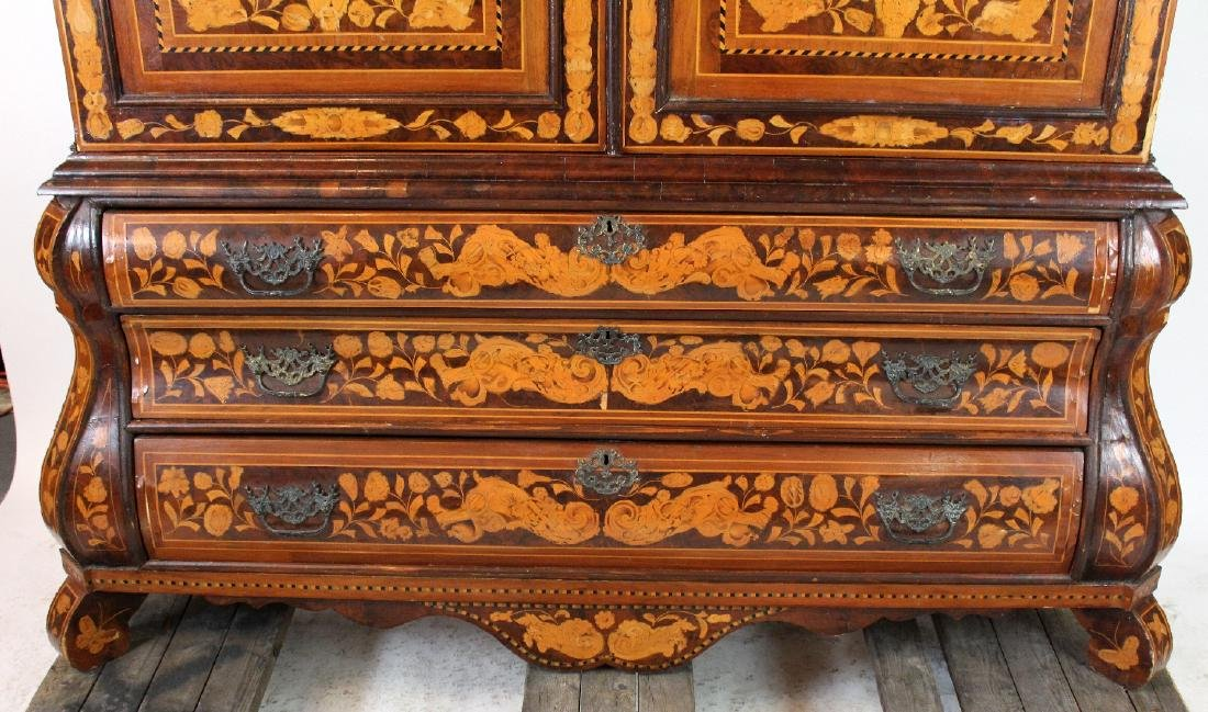 Dutch Neo-Classical marquetry cabinet - 6