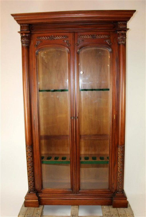 Pleasing Mahogany Victorian Style Gun Cabinet Download Free Architecture Designs Scobabritishbridgeorg