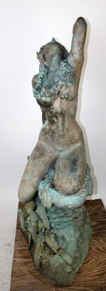 Verdigris bronze figural fountain - 4