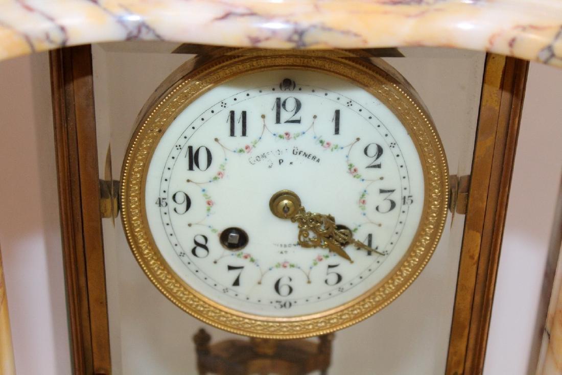 Louis XVI ormolu mounted marble clock - 5