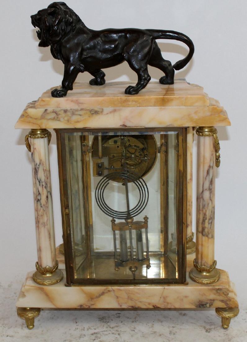 Louis XVI ormolu mounted marble clock - 7