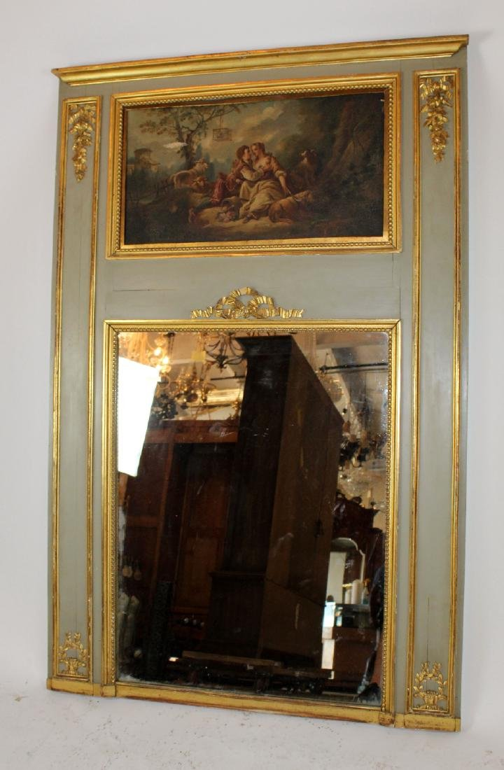 French painted trumeau mirror - 3