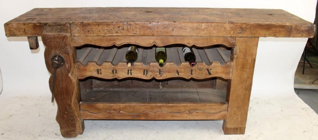 French carpenters bench wine sideboard