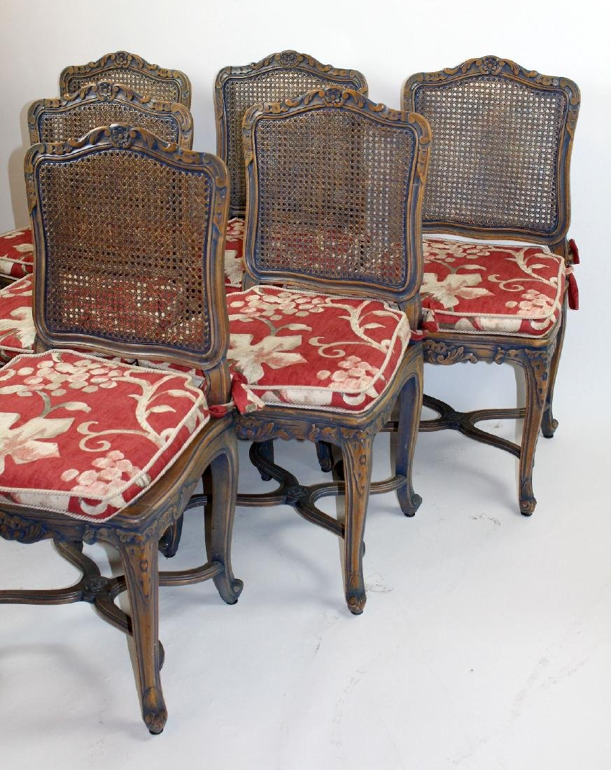 6 Louis XV style caned chairs - 3
