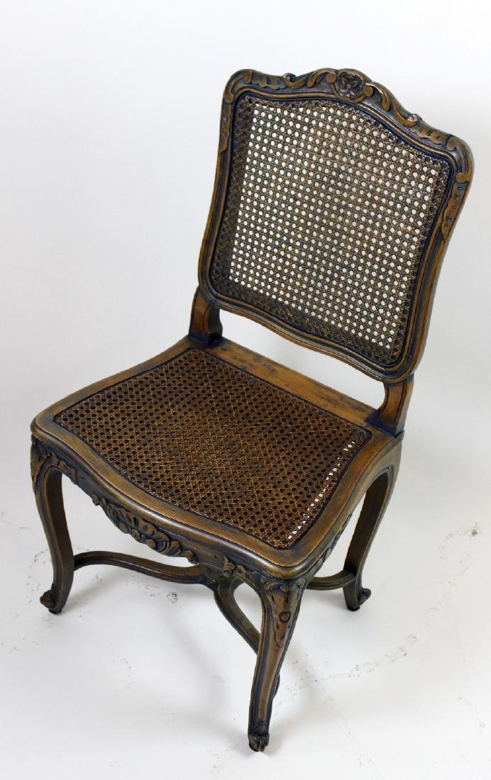 6 Louis XV style caned chairs - 4