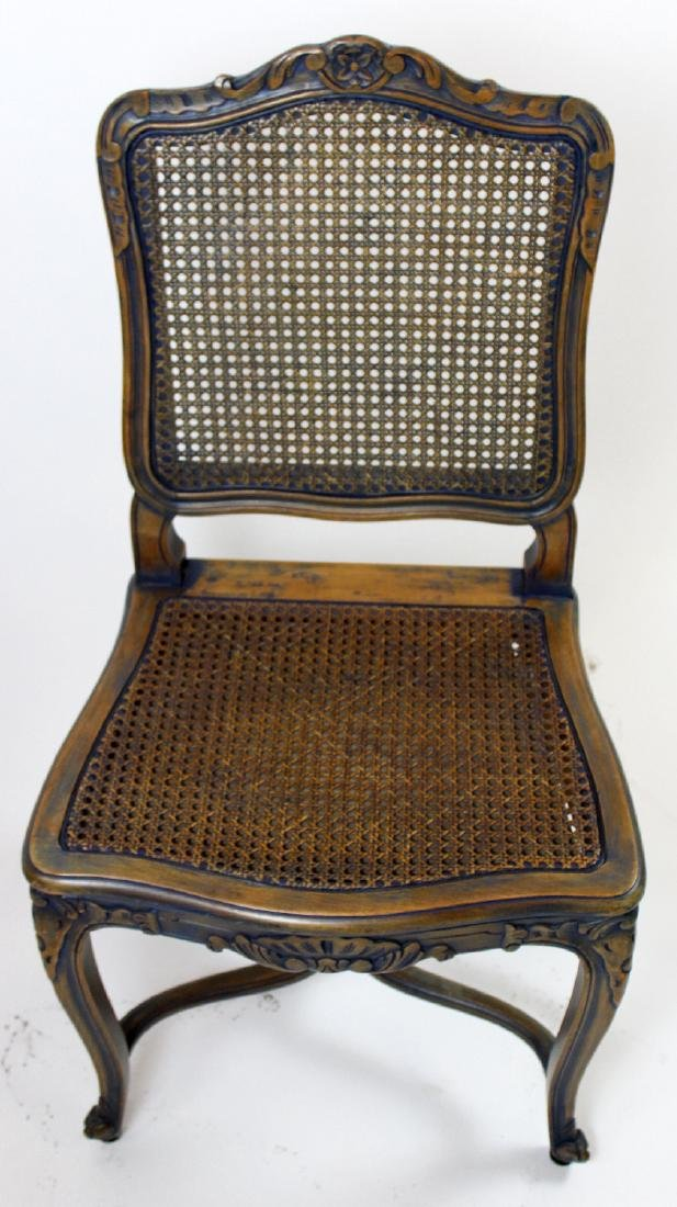 6 Louis XV style caned chairs - 5