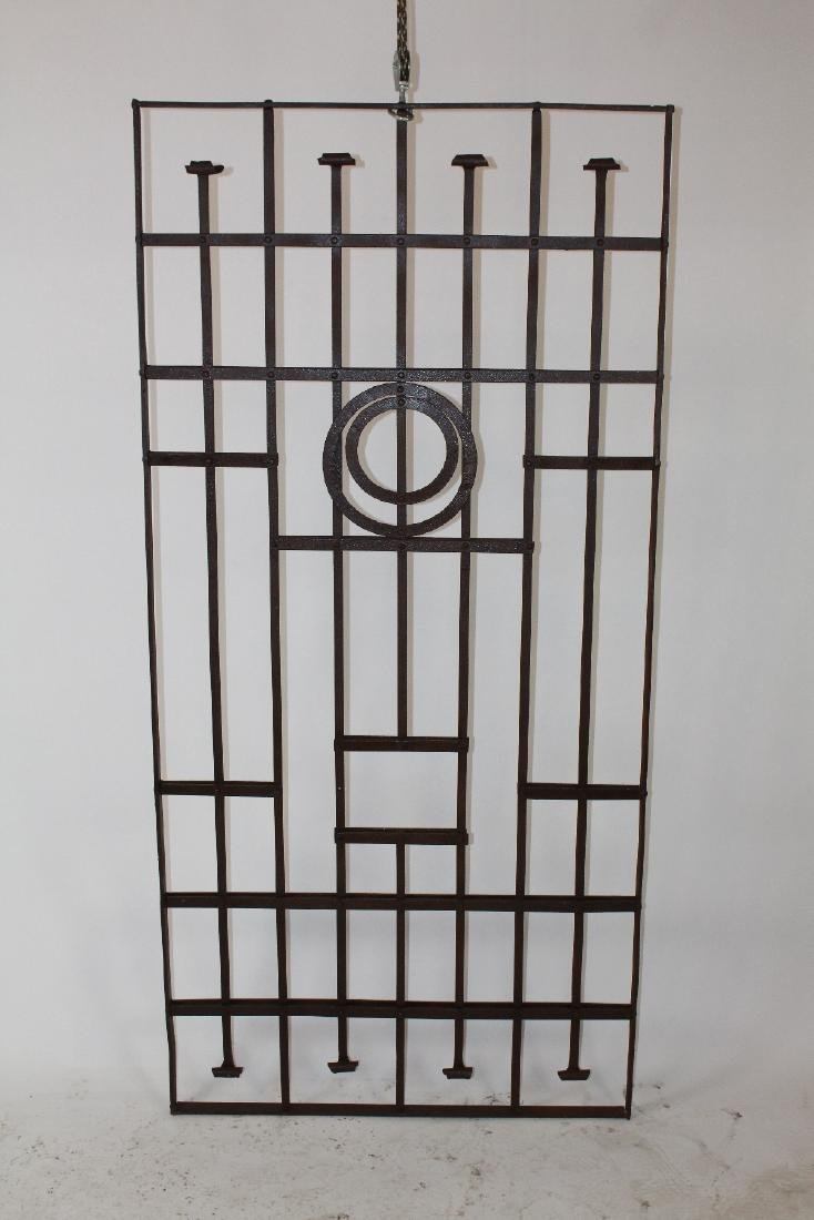 Iron panel with circular detail