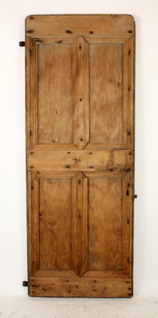 French rustic door with iron studs