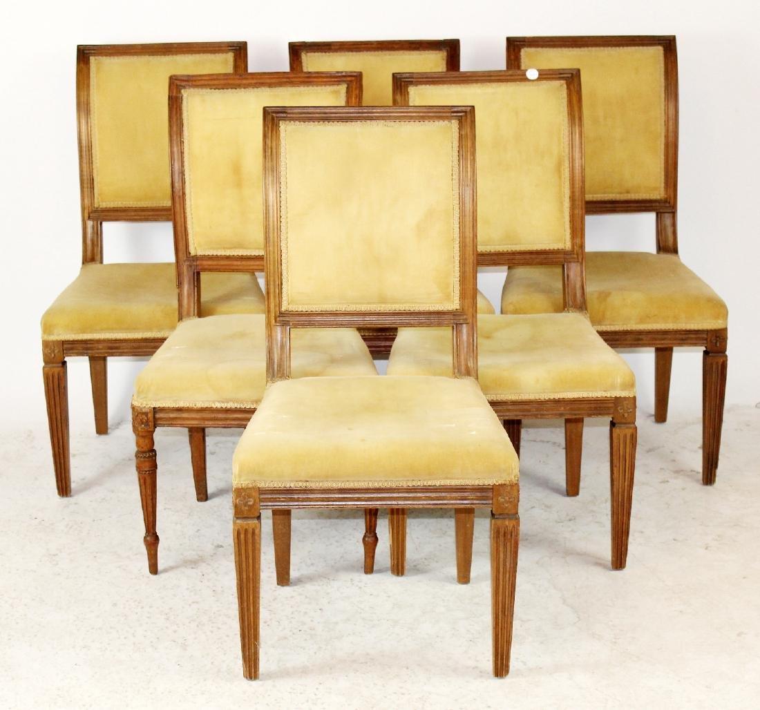 6 Louis XVI dining chairs