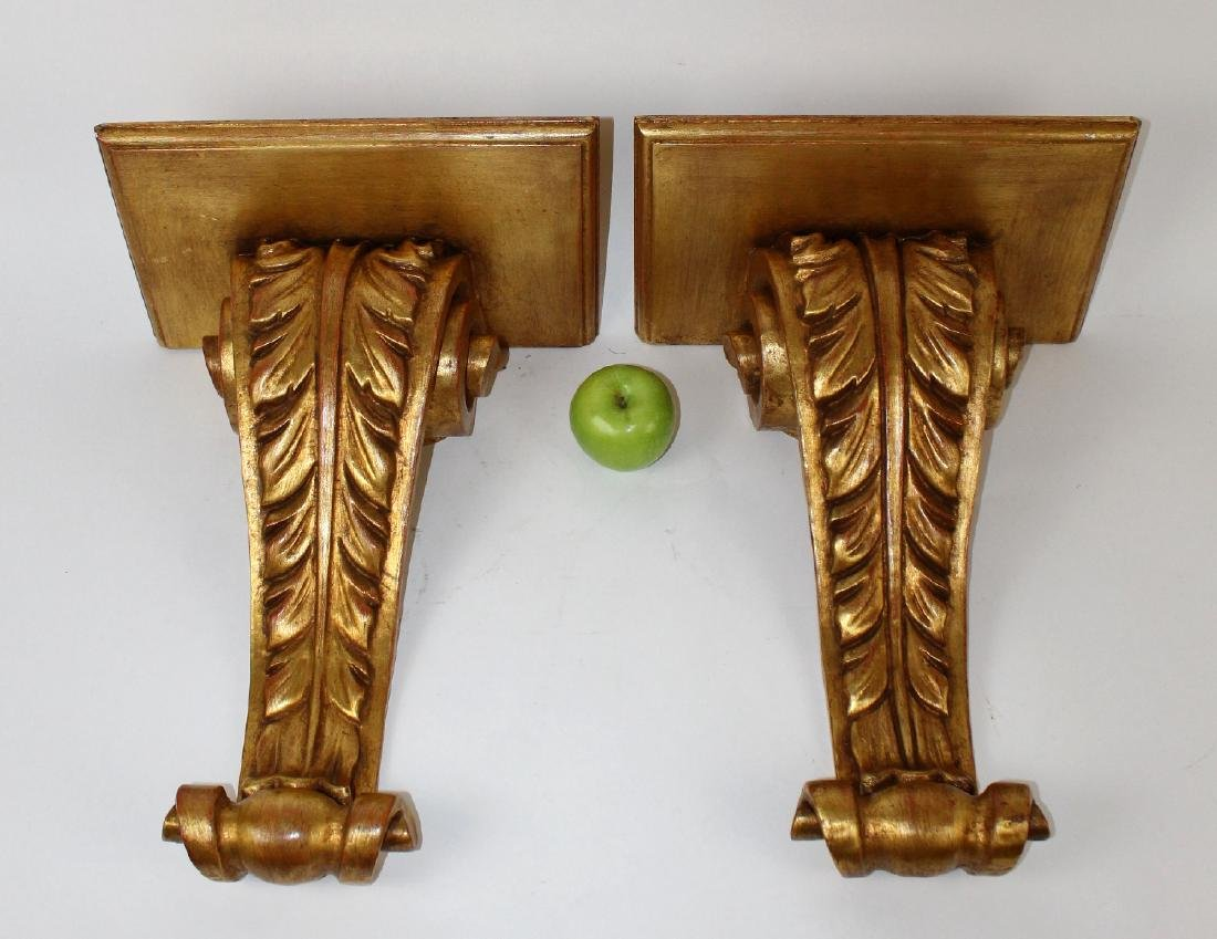 Pair of giltwood corbels - 2
