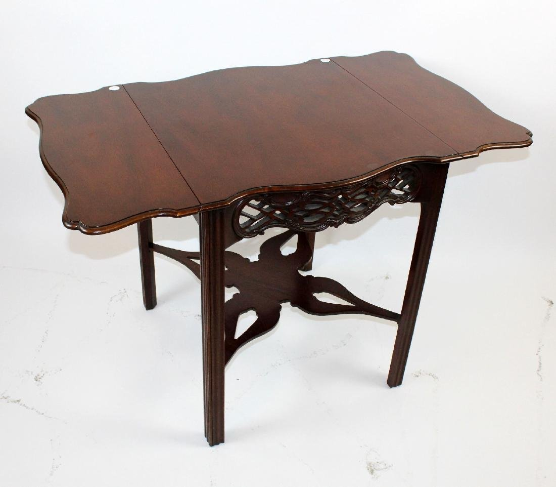Baker mahogany dropside table - 4