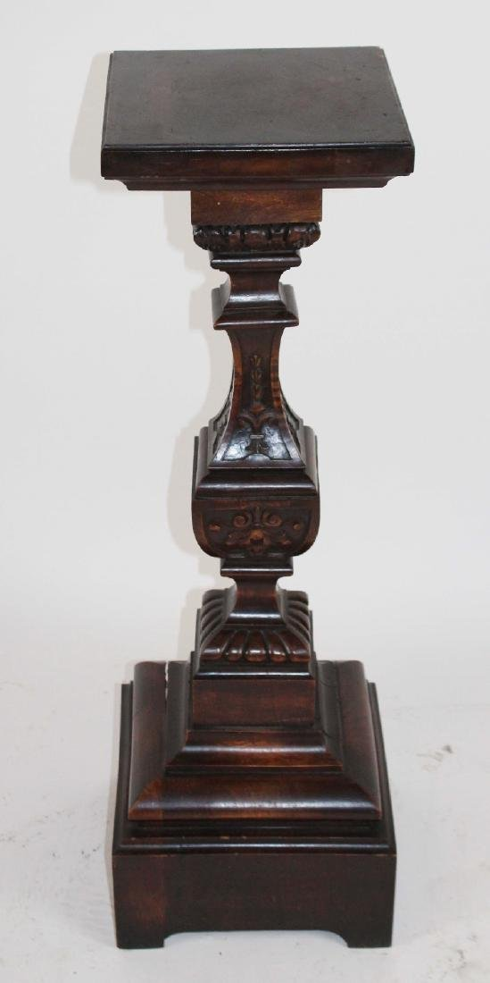 French carved walnut pedestal