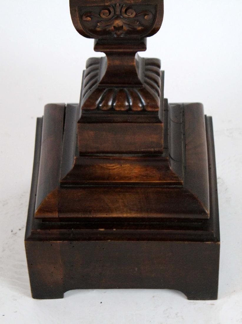 French carved walnut pedestal - 3