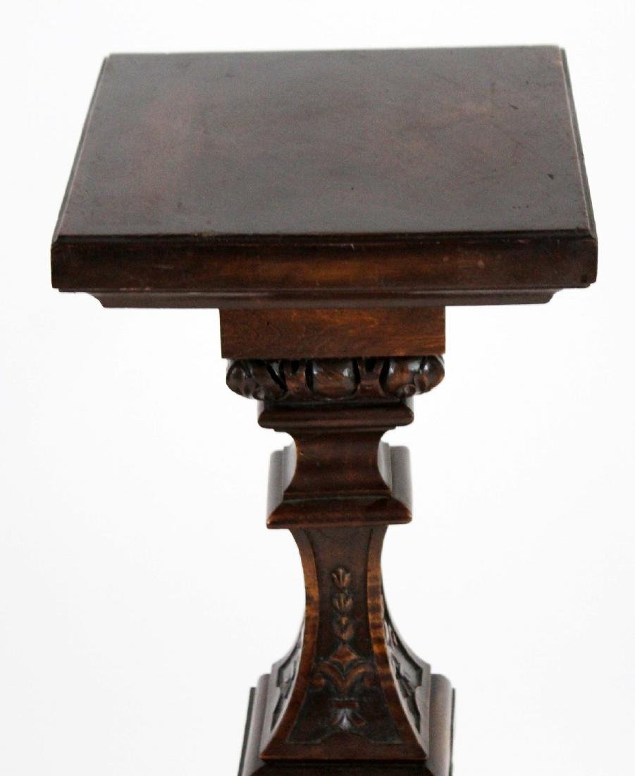 French carved walnut pedestal - 4