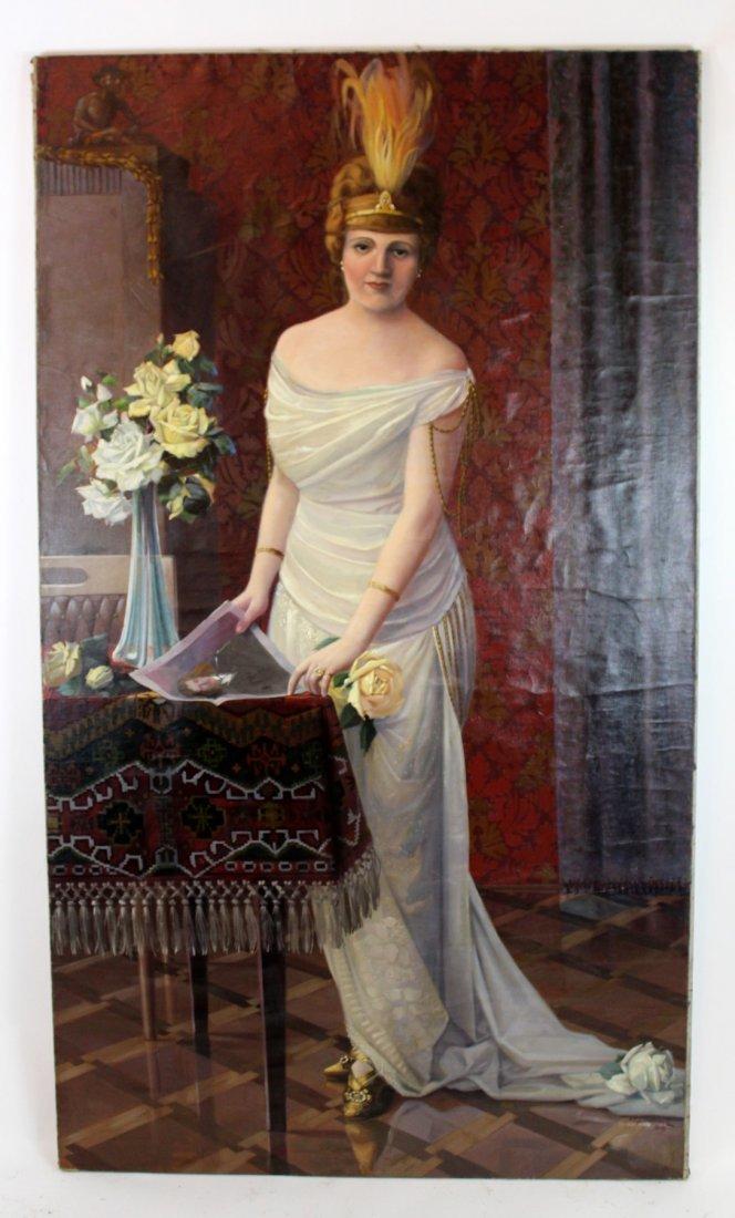 Oil on canvas potrait of a Polish Noble Woman