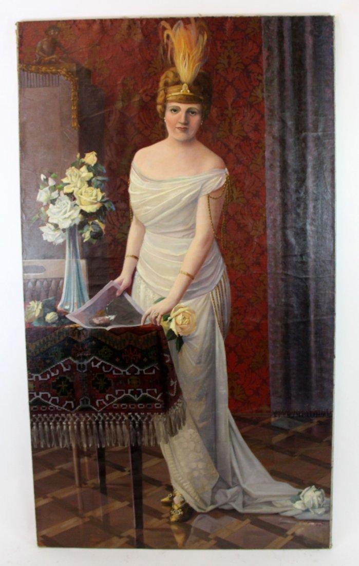 Oil on canvas potrait of a Polish Noble Woman - 2