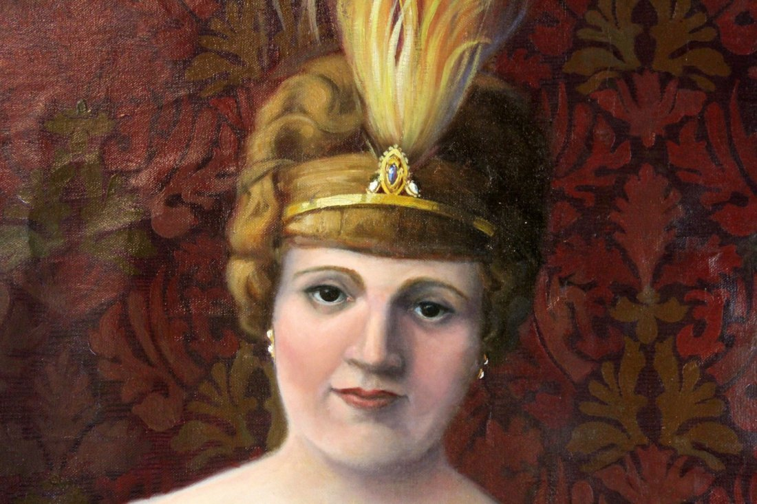 Oil on canvas potrait of a Polish Noble Woman - 3
