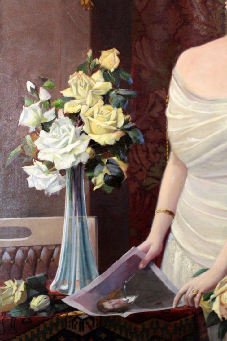 Oil on canvas potrait of a Polish Noble Woman - 4