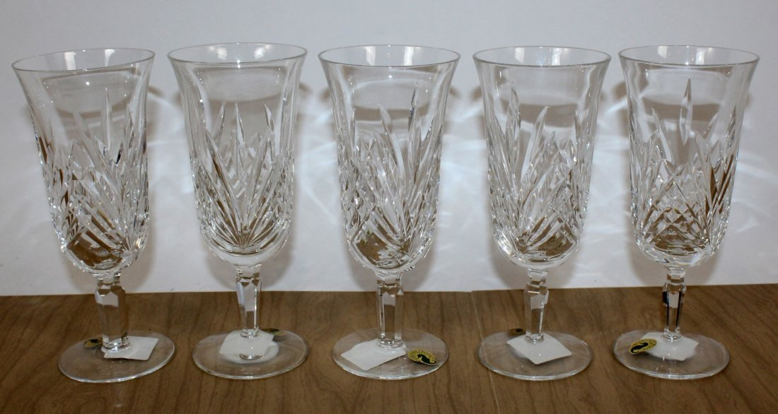 Set of 5 Waterford Leanna crystal goblets - 2