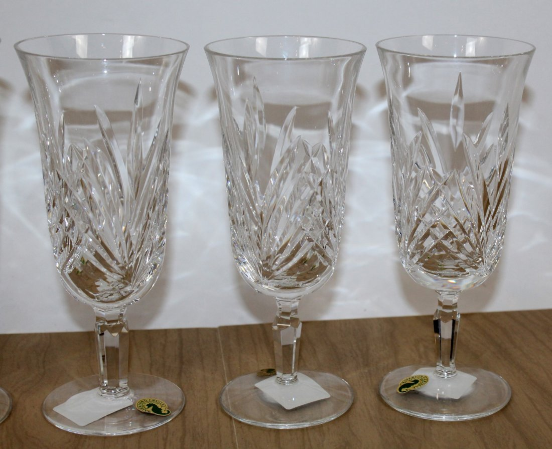 Set of 5 Waterford Leanna crystal goblets - 3