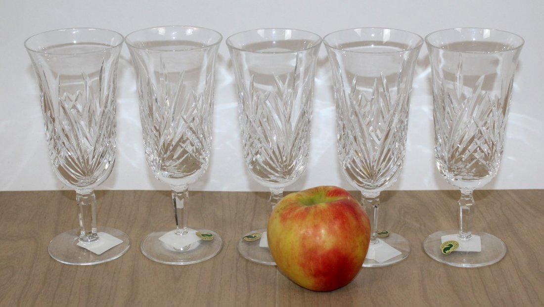 Set of 5 Waterford Leanna crystal goblets - 6