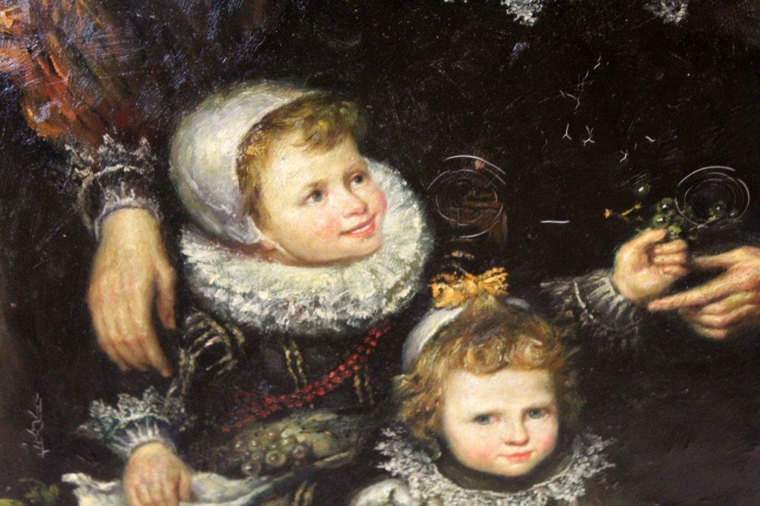 Oil on canvas depicting Victorian era scene - 3