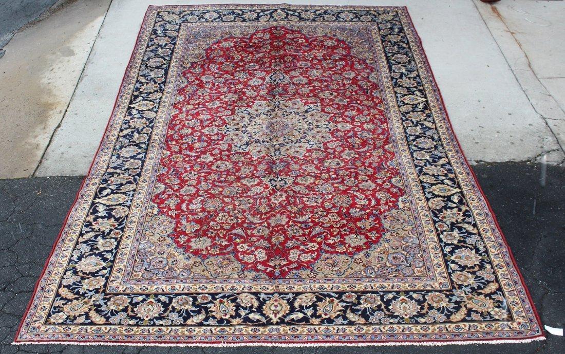 "Persian Isfahan rug 9'9"" x 15'4"