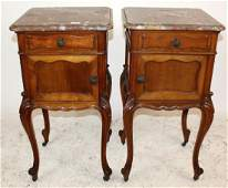 Pair of French Louis XV chevets