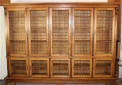 French walnut bookcase with grills