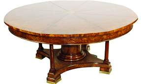 Expanding Jupe table in mahogany