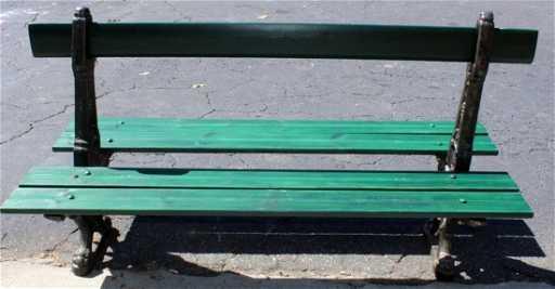 Paris Park Bench Double Sided Cast Iron Base