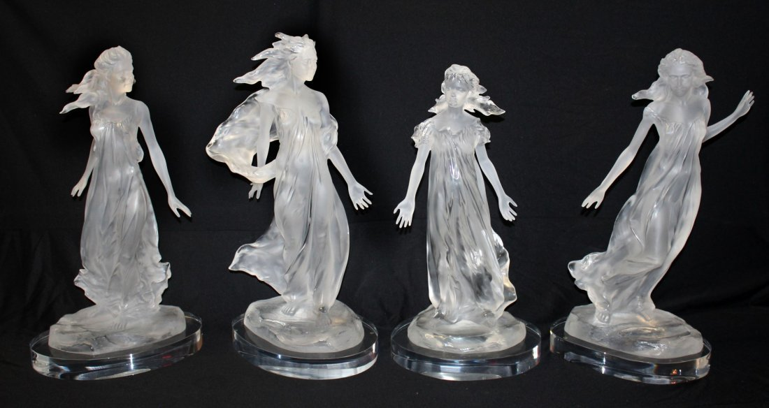 Frederick Hart set of 4 Songs of Grace sculptures