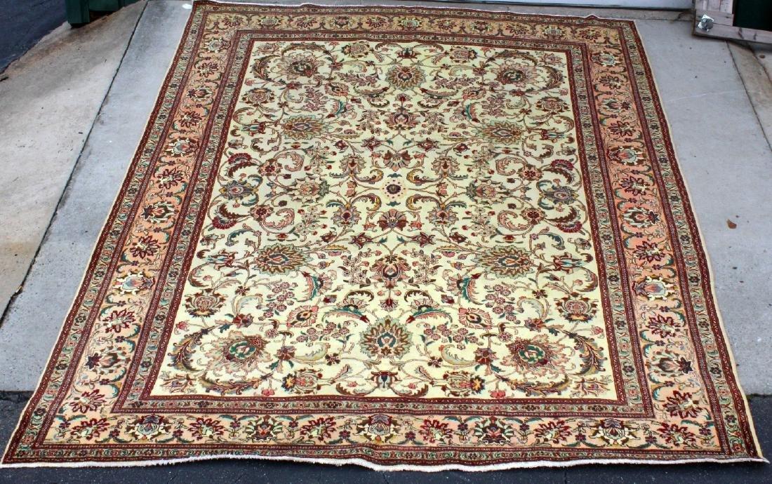 10.9 x 14.2 Persian wool Tabriz