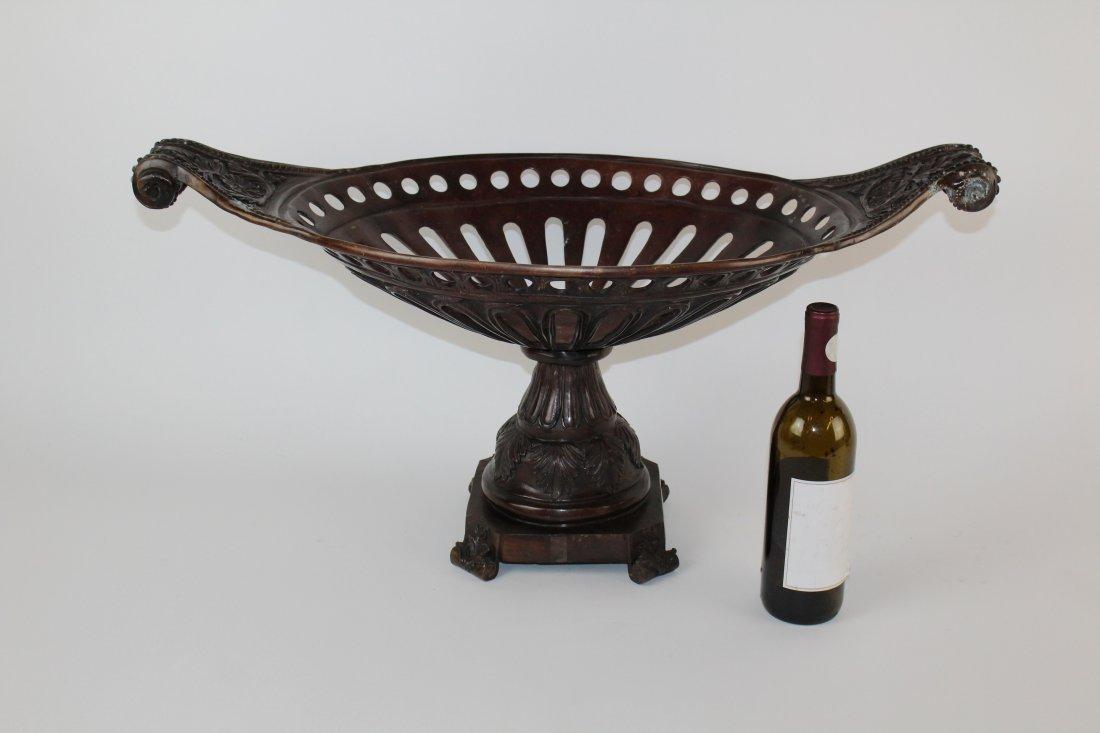 Maitland Smith bronze urn centerpiece