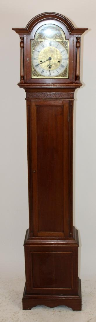 English mahogany grandmother's clock