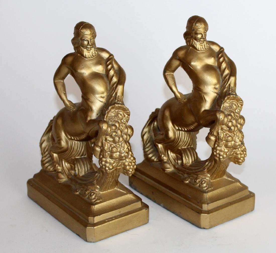 Pair of American Art Deco centaur bookends