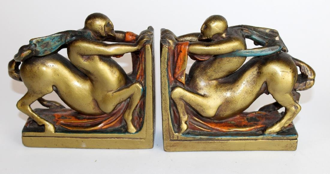 Pair of Art Deco centaur bookends