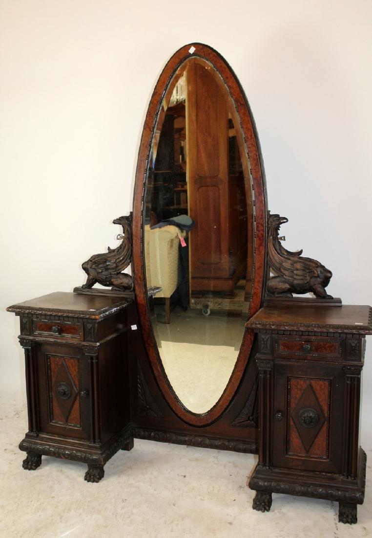 Italian Renaissance vanity in walnut