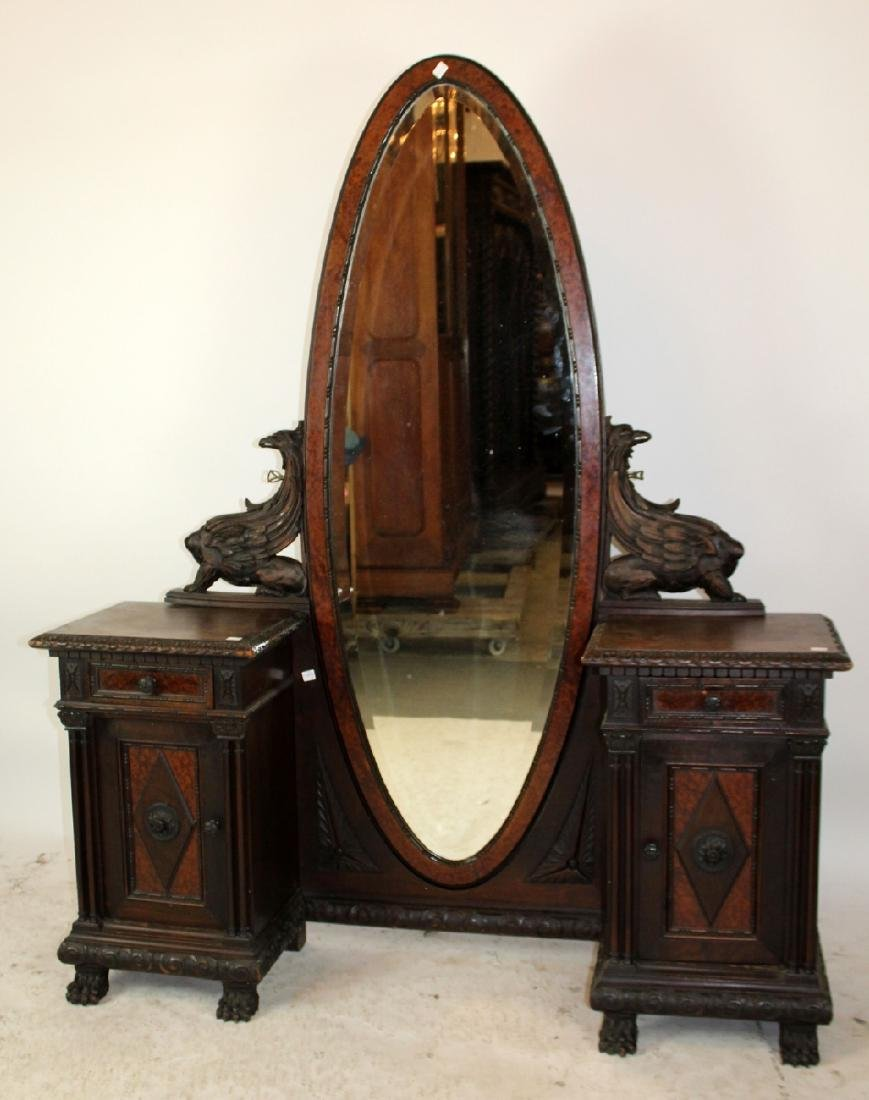 Italian Renaissance vanity in walnut - 2