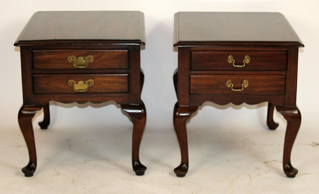 Pair of Henkel Harris mahogany side tables