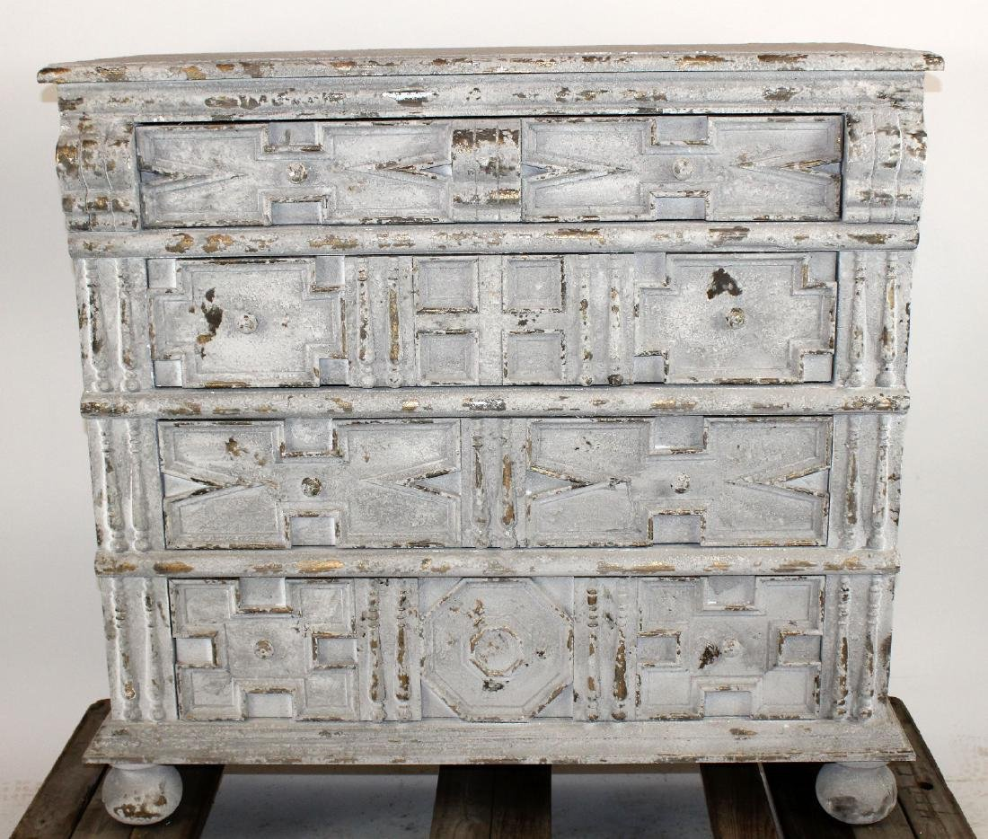 Distressed finish chest of drawers