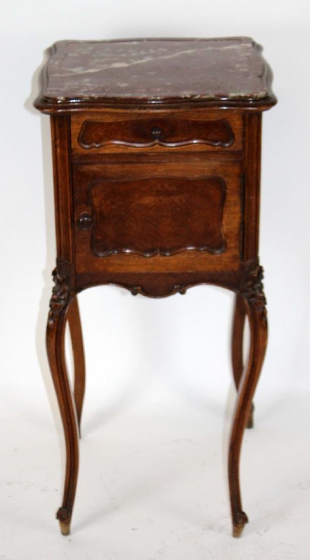 French Louis XV walnut chevet