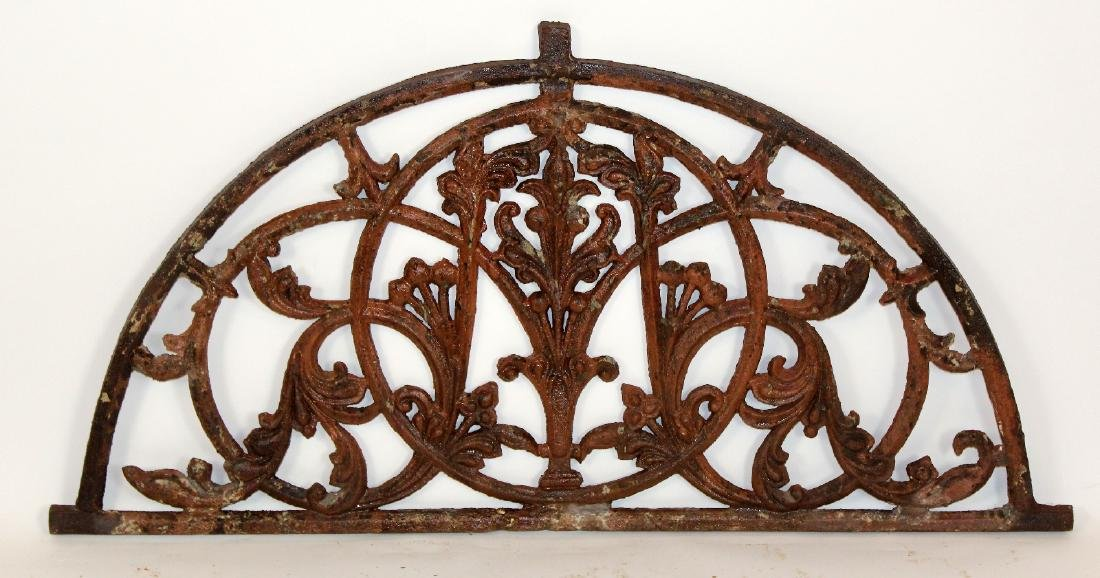 Hand forged iron demi-lune panel