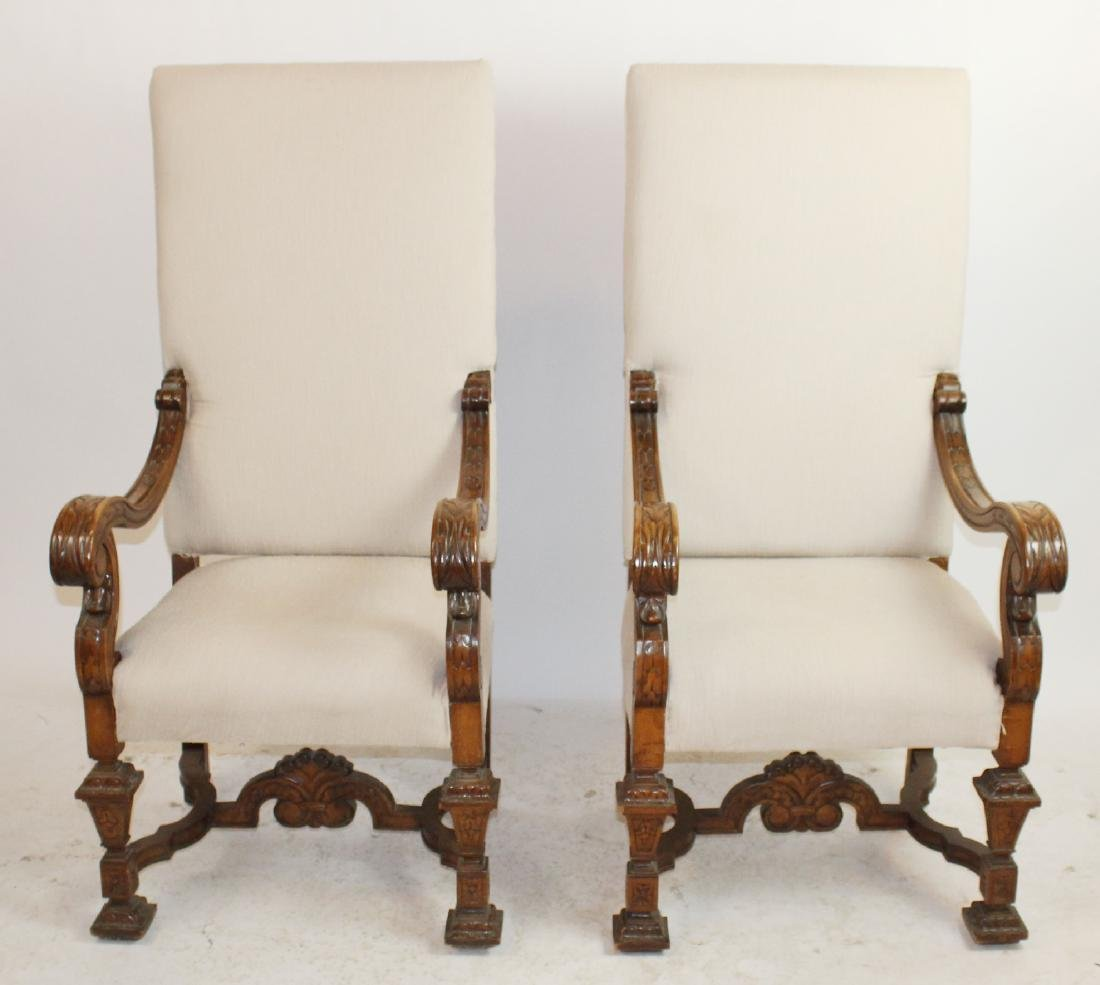 Pair of French Louis XIV armchairs